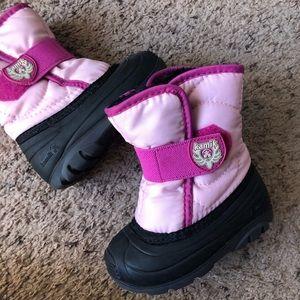 Kamik pink toddler girl snow boots, toddler 6